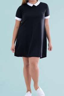 Black Collared Preppy Dress