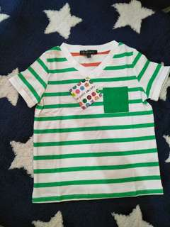 🚚 Le petite society striped Boy T Shirt in green or blue