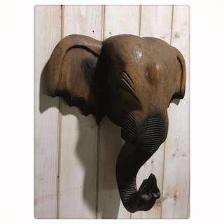 🚚 老物件 早期 蒐藏品 木雕象頭