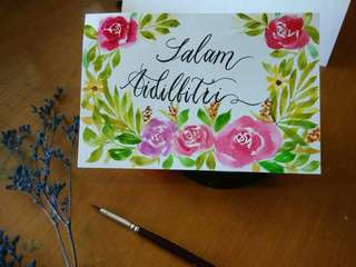 New Raya handpaint card