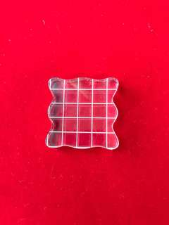 Acrylic clear block for scrapbook stamps