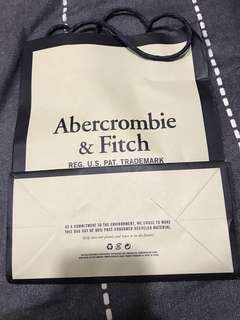 A&F paper bag, comes with $15 purchase