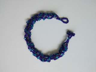 孔雀綠松藍綠水晶手鍊鐲Turuoise blue green crystal bracelet bangle