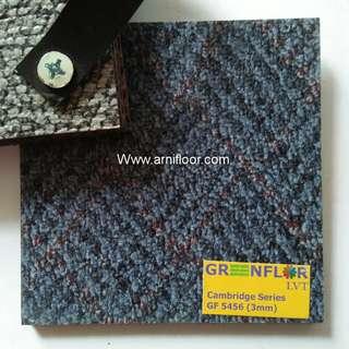 Lantai vinyl tile motif karpet warna