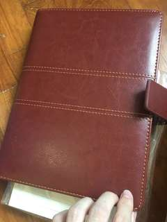 Brown leather scheduler