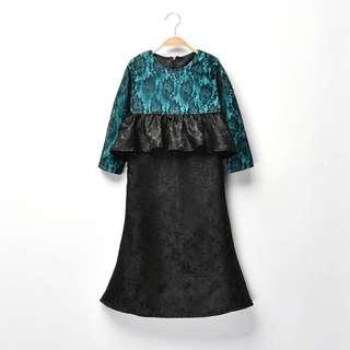 Baju Kurung Moden lace 1y to 12y