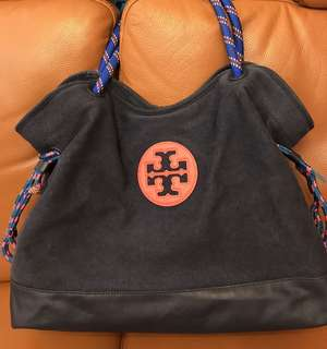Tory Burch Navy Blue Bag