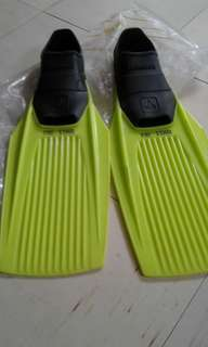 Long fins for swimming