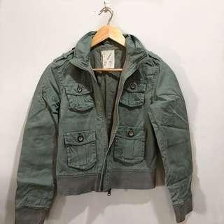 Old Navy Olive Green Denim Jacket