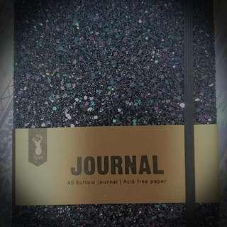 Black Sparkly Rough Typo Notebook/Journal