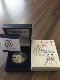 S94 - 1993 $5 SEA Games Silver Proof Coin