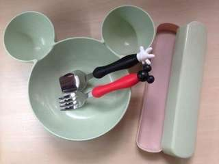Mickey Mouse Untensil Set