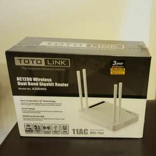 Totolink AC1200 A2004NS Router 全新品連三年保用