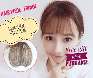 [In stock] Hair piece hair bang with clips | fringe wig cosplay party