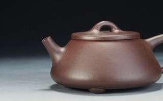 純正原礦老紫泥,全手工製作石瓢壺