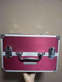 Pink make up box organizer hard case