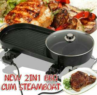 NEW 2IN1 BBQ CUM STEAMBOAT