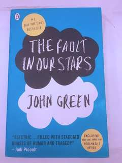 [USED BOOK] The Fault In Our Stars + FREE BOOKMARKS!
