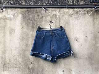 🚚 二手 高腰藍色牛仔短褲