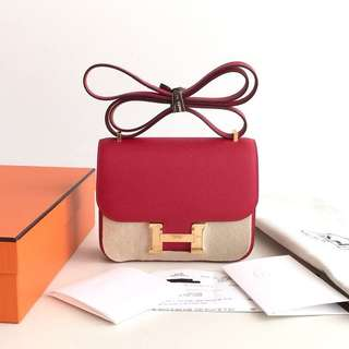 Authentic Hermes Constance 18 Red