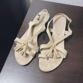 Charles & Keith Tassel Sandals