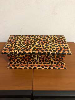 Wooden box (Leopard printed)