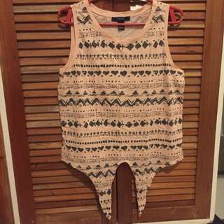 Forever 21 Pink Aztec Top