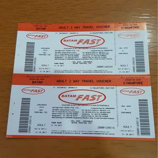 Two Way Ferry Tickets to Batam (Batam Fast Ferry)