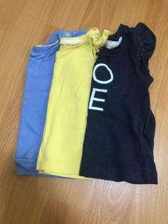 Short sleeve tshirts 3-6m
