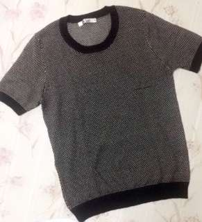 Calico knitted blouse