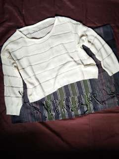 Long Sleeve crochet crop top