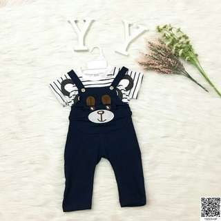 Cute Teddy Bear Kids Jumpsuit