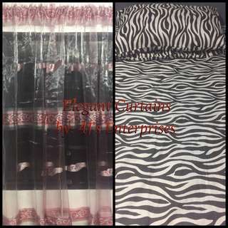 bedsheet and curtains