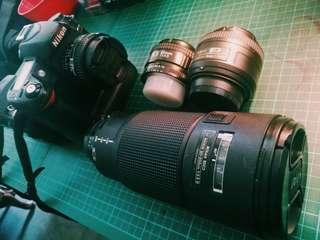 4 Nikon DSLR Lens 28mm 35mm 12-24mm