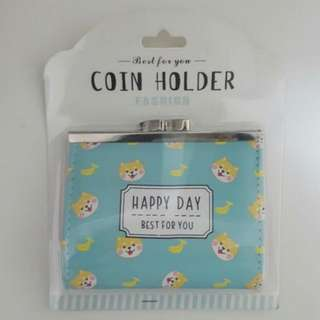 Cute Coin Holder Dog Shiba Inu With Banana Wallet Pouch