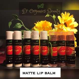 Tinted matte lip balm