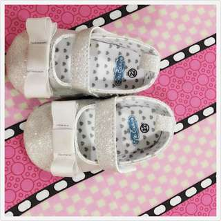 Crib Couture silver shoes