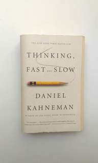 Thinking fast and slow, self motivation book.