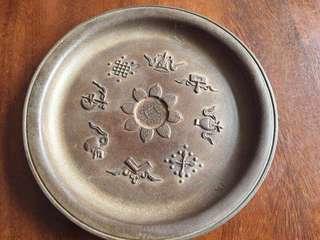 清中期紫砂碟