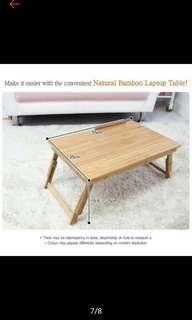 Natural Bamboo Foldable Portable Small Table
