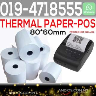 In-Stock✔Thermal Paper Receipt Roll 80X60mm Pos Cashier