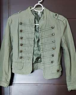 Pre-loved Cotton On Army Green Jacket