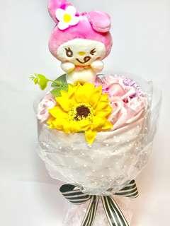 My Melody Artificial Flower Hand Bouquet