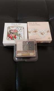 全新 Paul & Joe Eye Color Trio 07 三色眼影 (Refill) & 印花外盒一個 made in Japan