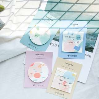 (PO) Pastel Paint Sticky Notes/ Post-its
