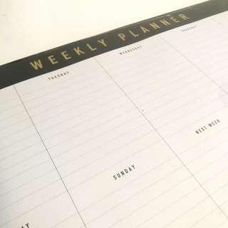 kikki.K A4 Weekly Planner Pad