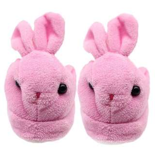 Mini Bunny Bedroom Slippers for Dolls and Teddy Bears
