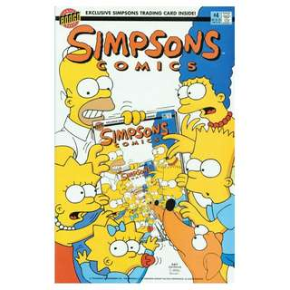 Simpsons Comics #4 (May 1994) - Exclusive Simpsons Trading Card Inside!