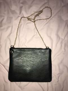 Missguided Clutch Bag With Gold Chain