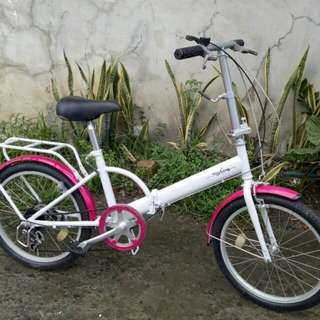 White/pink Folding bike FREEDELIVERY